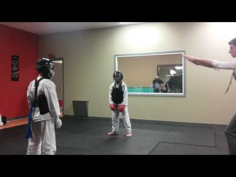 my karate sparring tournament! Gold