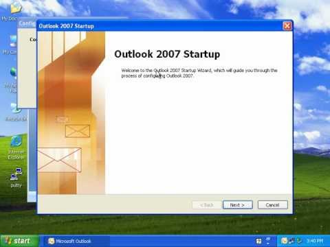 Microsoft Office Outlook 2007 Setting up POP3 Account