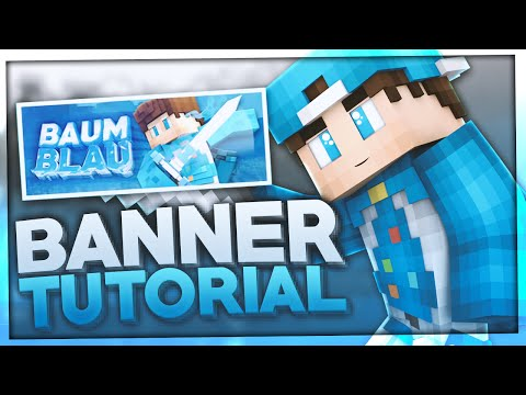 Minecraft BANNER erstellen TUTORIAL | How to make a MINECRAFT Banner | BaumBlau