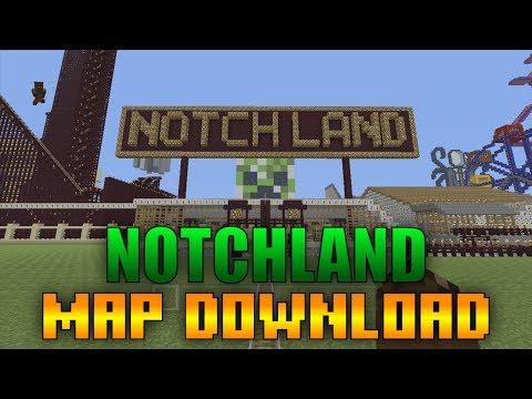 Minecraft Xbox 360/PS3/WiiU - NOTCH LAND MAP SHOWCASE!