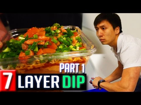 Making the Best 7 Layer Nacho Dip Part 1