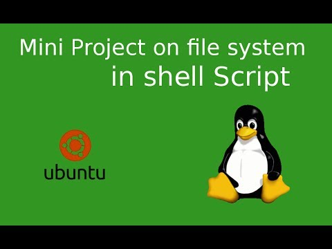 file system based Mini Project in shell script