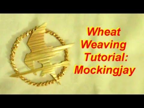 Wheat Weaving: Hunger Games Mockingjay Pin