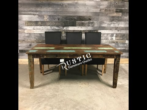 Rustic Recycled wood dining table