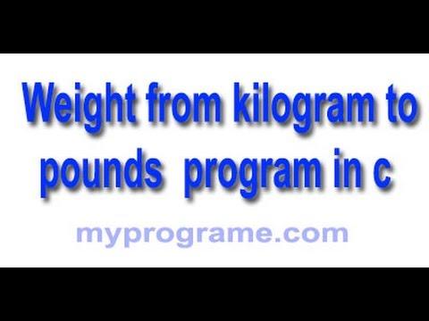C Programming: kg to pound convert.