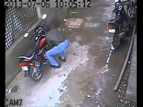 How to break bike's handle lock