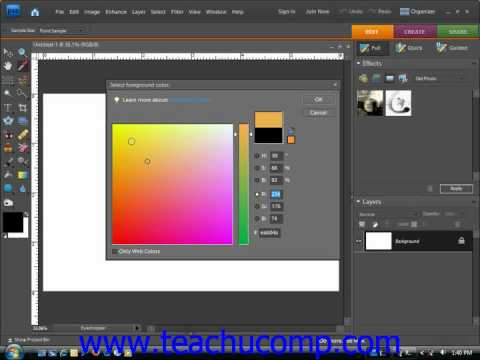 Photoshop Elements Tutorial Using the Color Picker Adobe Training Lesson 5.5