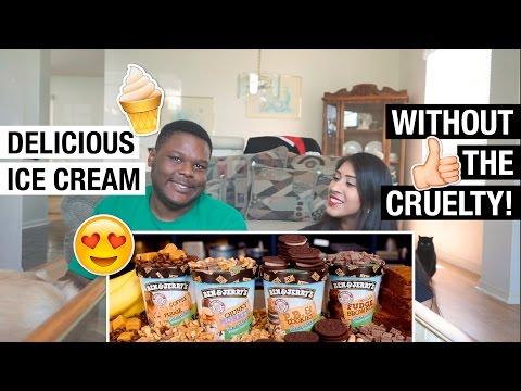 VEGAN BEN & JERRY'S ICE CREAM TASTE TEST! ♡