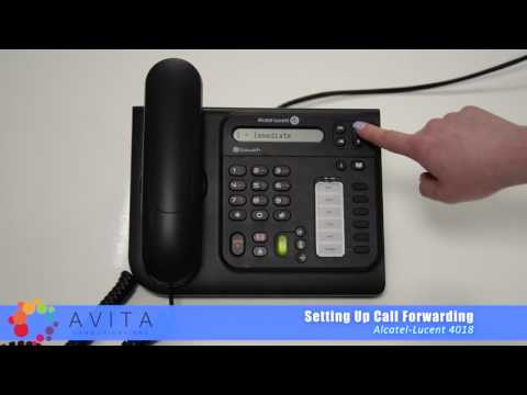 How to Set Up Call Forwarding - Alcatel-Lucent 4018