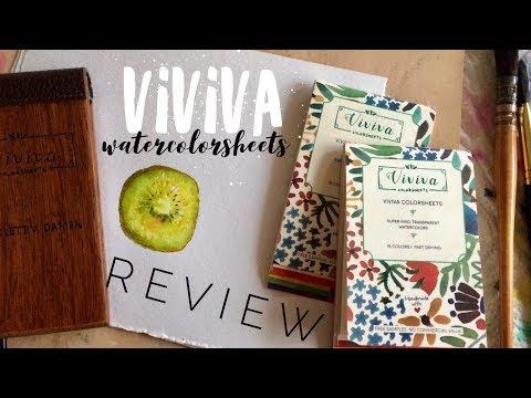 Viviva Colorsheets Review WATERCOLOUR by Scarlett Damen