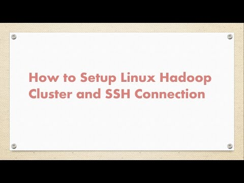 How to Setup  Linux Cluster | SSH Passwordless Connection |  Hadoop Cluster Setting Through SSH