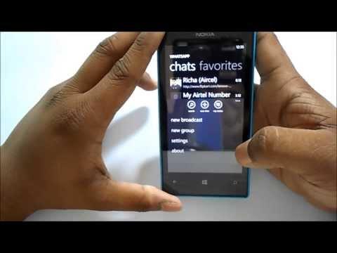 Block contacts on whatsapp in windows(Nokia Lumia 520)