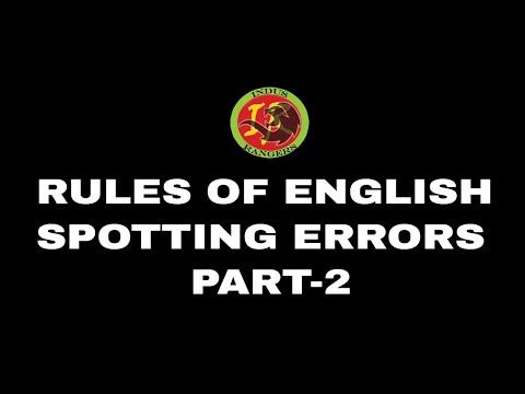 Rules of English Language - Part 2