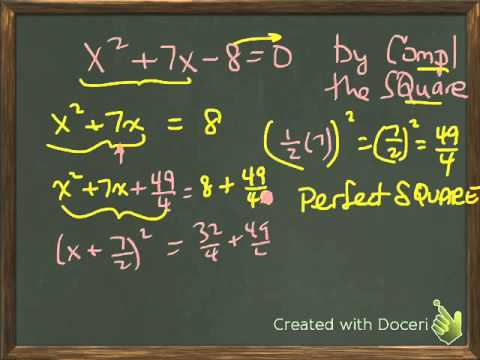 solving quadratic by completing the square