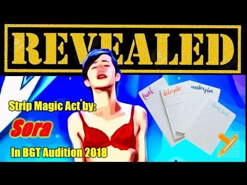Revealed:  Japan Sora (Strip Magic) in BGT Audition 2018
