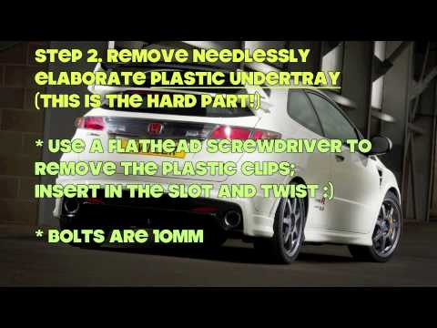 How to change gear oil (manual transmission fluid) in Honda Civic FN2 Type R or FG2 FA5 Si