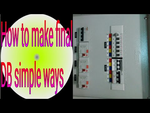 How to make final Distribution board/how to design final DB new