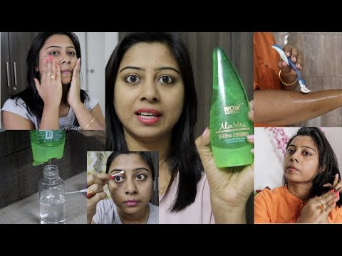 5 Amazing Ways to use Aloe Vera Gel for Face and Hair || Preventing Naturally Soumali