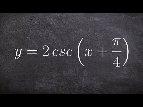 Graphing the Cosecant Equation with a Phase Shift