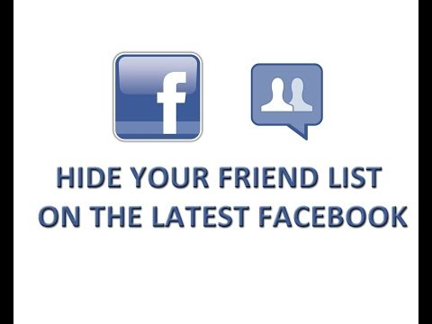 Hide your Friend List on the latest Facebook 2014 - Also hide Followers and Following