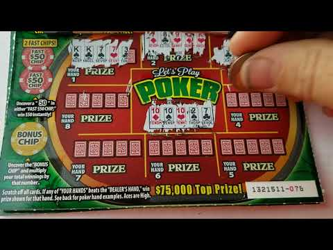 Playing 5 Lets Play Poker Scratchers