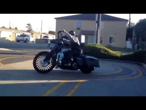 DMV motorcycle test on a Harley with a 26