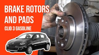 [ Tutorial Gasoline Renault Clio 3 ] How To Change Brake Discs And Pads