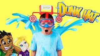Dunk Hat Challenge! Dad vs Kids Hilarous Silly Toy Game Challenge Video