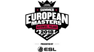 European Masters Summer 2018: Team Atlantis vs MAD Lions