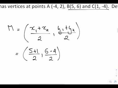 Determining the equation of a median
