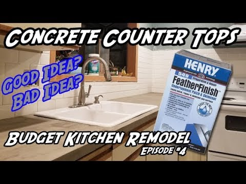 How to Build Concrete Counter Tops   DIY Kitchen Counter Tops