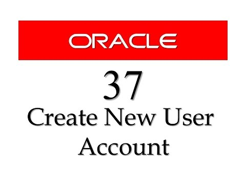 SQL tutorial 37: How to create NEW USER account using Create User statement in Oracle database