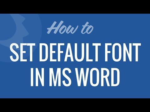 Set default font in Microsoft Word