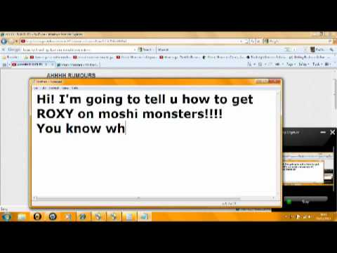 how to get roxy on moshi monsters