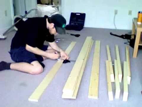 Making a wooden futon frame