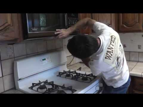 How To Remove An Over The Range Microwave - With Fryer Grease Hand Therapy!
