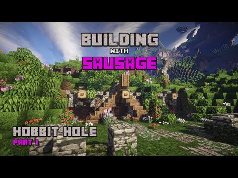 Minecraft - Building with Sausage - Hobbit Hole - Part 1!!!