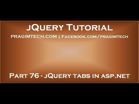 jQuery tabs in asp net