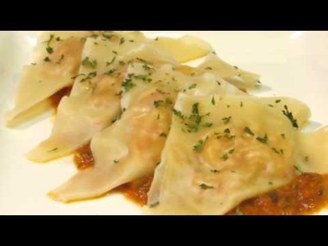 Crawfish Ravioli - How to make Crawfish Ravioli with Creole Sauce