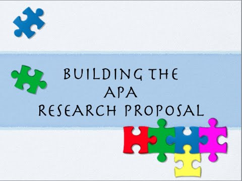 Building the Basic APA Research Proposal