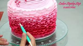 How To Make a Princess Tiara Ruffle Cake by Cakes StepbyStep