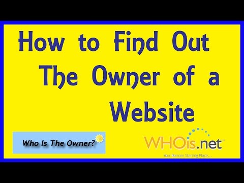 Find, Check, Search, Look Up Who Owns A Website & Domain. Domain Owner Registration  Information