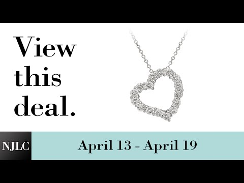 Deal of the Week: White Gold Diamond Heart Pendant