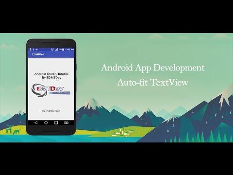 Android Studio Tutorial - Autofit TextView