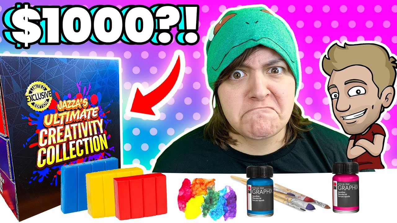 Cash or Trash? 1000$ Value Jazza Ultimate Box Unboxing & Review Craft Kit