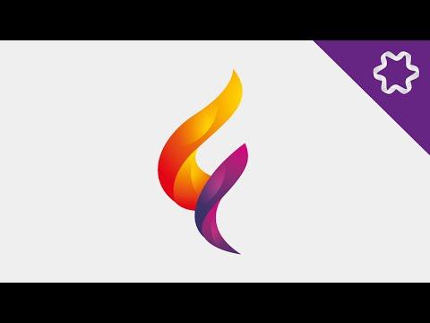 Illustrator Tutorial / 3D Colorful Spiral Logo Design Tutorial / How to make letter logo