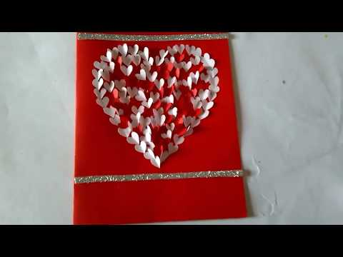 Valentine card   hand made Valentine card    simple and easy valentine card