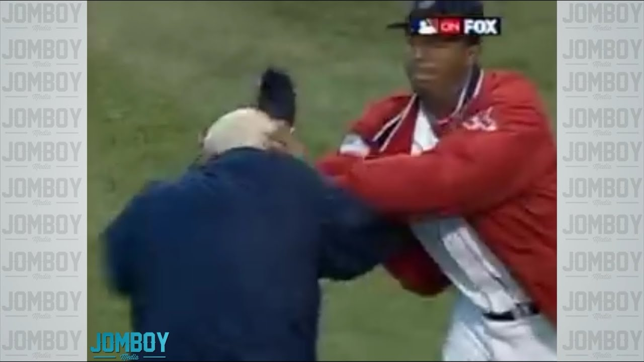 Pedro Martínez throws Don Zimmer to the ground, a breakdown