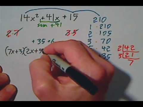 Factoring Trinomials With Large Numbers Shortcut Using Primes & Box