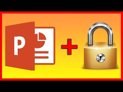 How to lock a PowerPoint 2016 file with a password - Tutorial